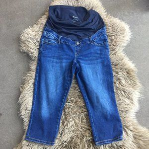 Thyme maternity cropped jeans - size M